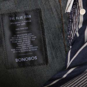 Bonobos Men's Jeans, blue denim 32/32, slim